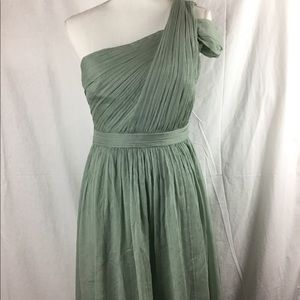 J crew 100% silk sea foam green dress size 4